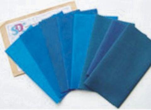 Vải len xanh